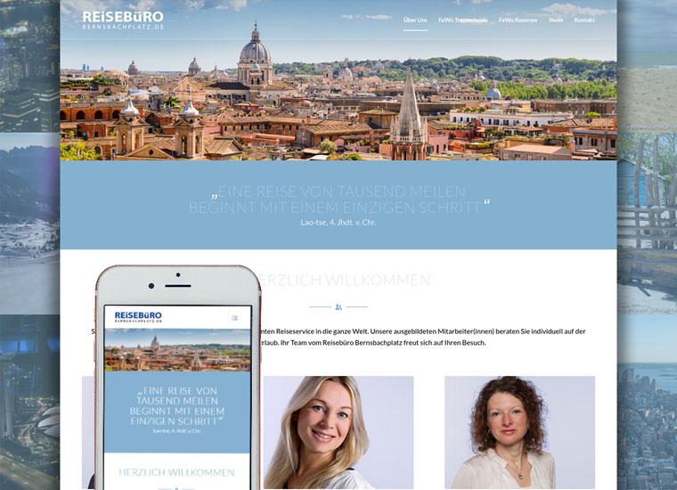 Reisebüro Bernsbachplatz Webdesign