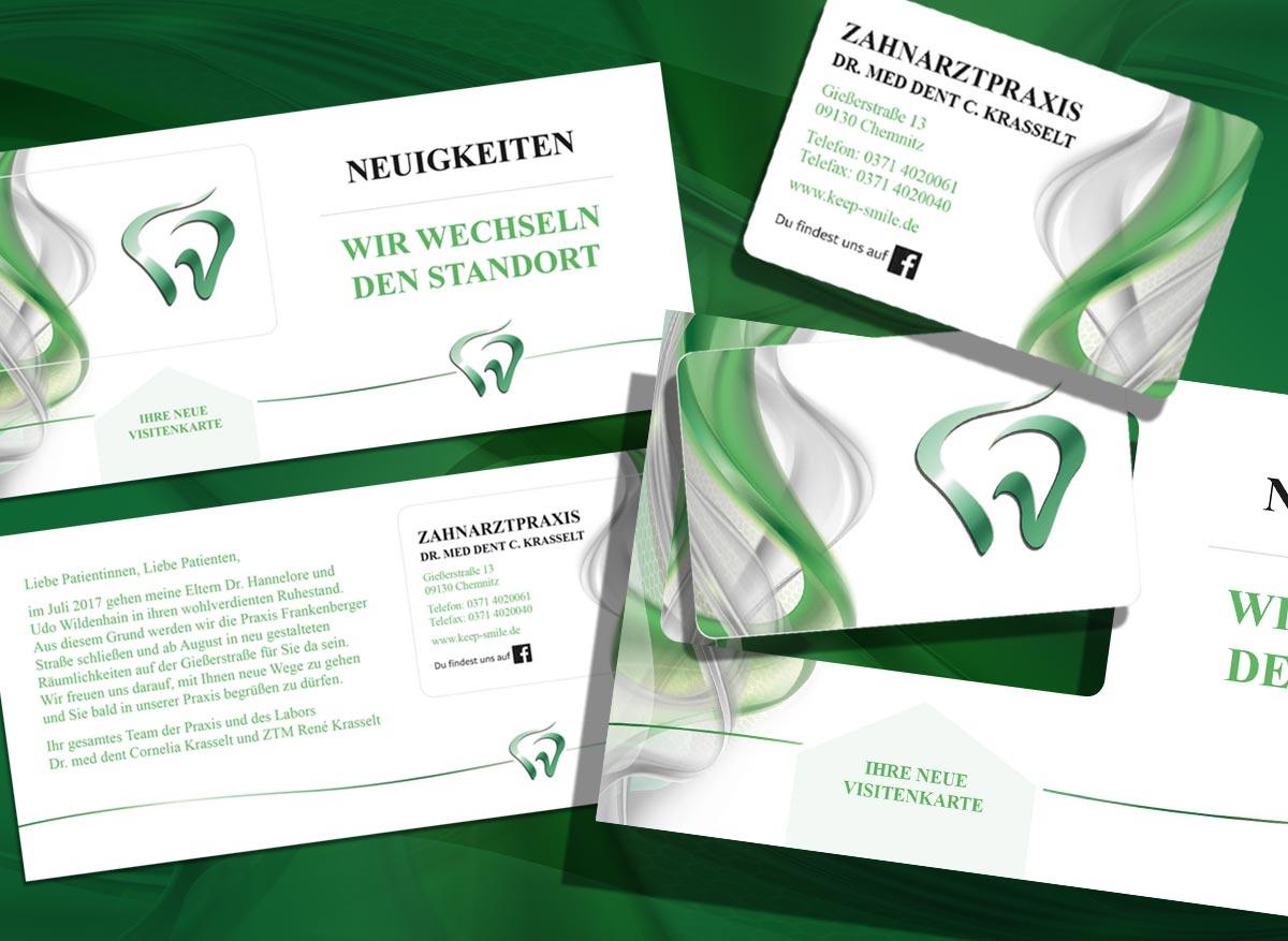 M L Design Krasselt Flyer Mit Integrierter Visitenkarte