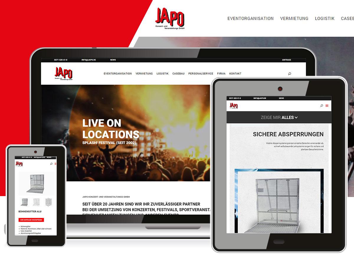 JAPO GmbH Webdesign