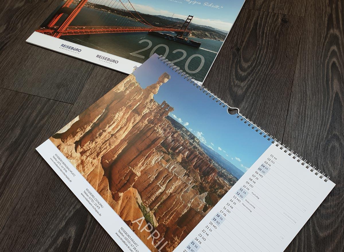 Reisebuero-Kalender