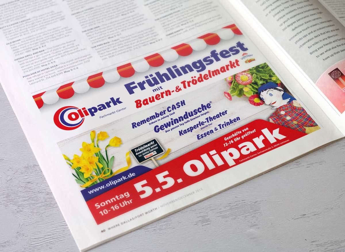Werbeagentur Portfolio - Olipark Fachmarktcenter